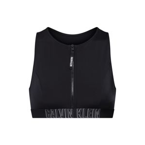 Calvin Klein Swimwear Bikinový top 'OPEN BACK CROP TOP'  čierna