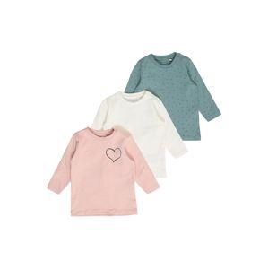 NAME IT Tričko 'Lotus'  béžová / pastelovo modrá / ružová