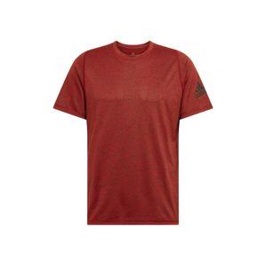 ADIDAS PERFORMANCE Funkčné tričko  čierna / burgundská / pastelovo červená