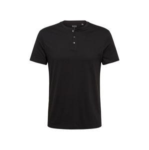 BURTON MENSWEAR LONDON Tričko 'Black Grandad T-Shirt'  čierna