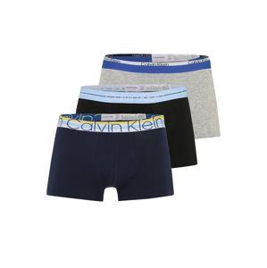 Calvin Klein Underwear Boxerky  modrá / sivá / čierna