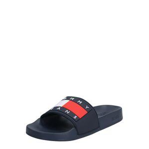 Tommy Jeans Šľapky  červená / biela / námornícka modrá