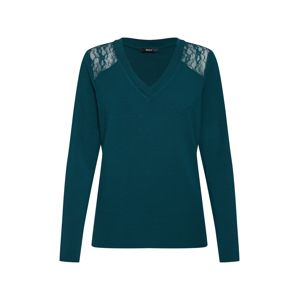 ONLY Tričko 'ONLBETTY L/S LACE DETAIL TOP JRS'  zelená
