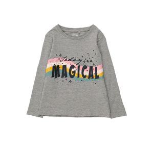 NAME IT Tričko  sivá melírovaná / čierna / ružová / biela / oranžová / svetlomodrá