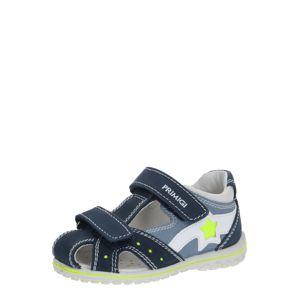 PRIMIGI Sandále 'SWEET NABUK'  biela / azúrová