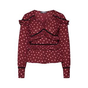 Fashion Union Blúzka 'AMLENE'  červená