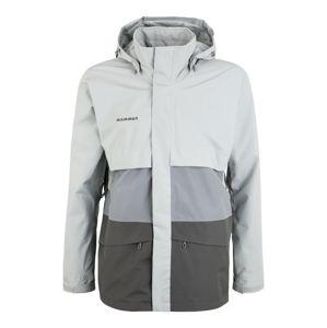 MAMMUT Športová bunda  sivá / svetlosivá
