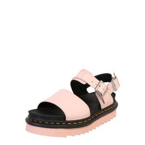 Dr. Martens Remienkové sandále 'Voss'  čierna / svetloružová