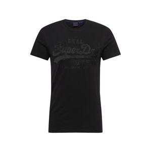 Superdry Tričko 'EMBROIDERY'  čierna