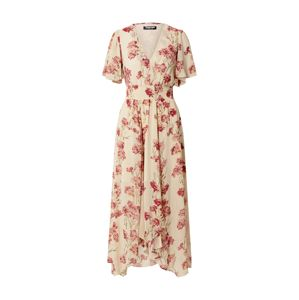 Fashion Union Šaty 'Audrey'  béžová / červená / zelená