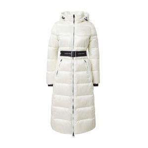 Calvin Klein Prechodný kabát  biela / čierna