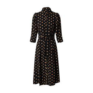 Dorothy Perkins Košeľové šaty 'BLACK AND CAMEL SPOT  3Q SLEEVE SHIRT DRESS'  žltá / čierna
