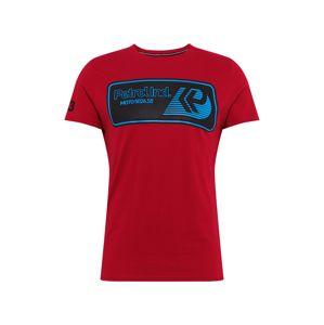 Petrol Industries Tričko  červená / čierna / modrá