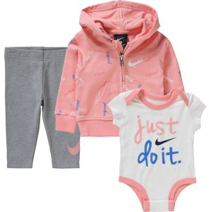 Nike Sportswear Set 'JDI French Terry'  biela / sivá / ružová