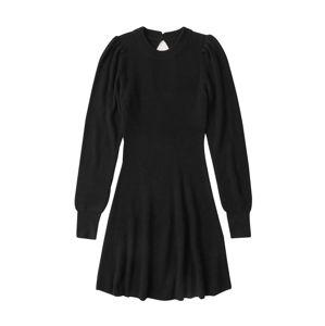 Abercrombie & Fitch Pletené šaty  čierna