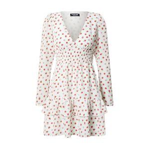Fashion Union Šaty 'Warren'  červená / biela