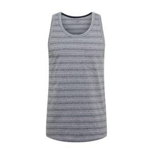 TOM TAILOR DENIM Tričko  sivá / modrá