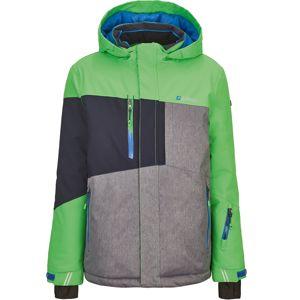 KILLTEC Outdoorová bunda 'Laurin'  sivá melírovaná / jablková / čierna