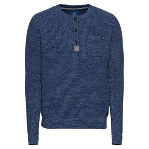 TOM TAILOR Sveter 'structured mouline sweater'  modré