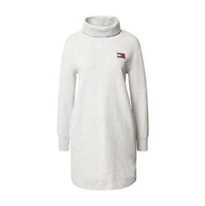 Tommy Jeans Košeľové šaty  sivá melírovaná
