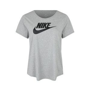 Nike Sportswear Tričko 'FUTURA PLUS'  sivá melírovaná / čierna