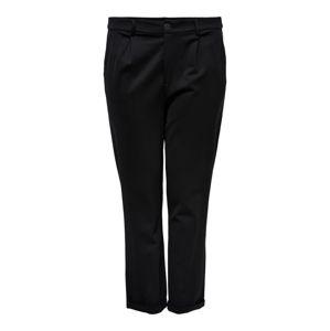 ONLY Carmakoma Plisované nohavice 'GOLDTRASH STRAIGHT'  čierna