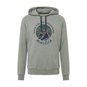 Maloja Športový sveter 'Favugn'  sivá melírovaná / zmiešané farby