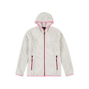 CMP Funkčná flisová bunda  biela / ružová