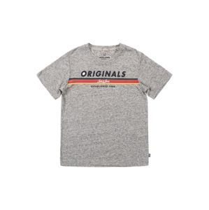 Jack & Jones Junior Tričko 'JORTUCO TEE SS CREW NECK JUNIOR'  sivá melírovaná