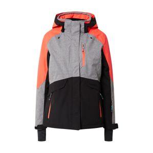 KILLTEC Outdoorová bunda 'Savognin'  čierna / sivá / koralová