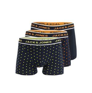 JACK & JONES Boxerky 'DOTS TRUNKS'  námornícka modrá / oranžová / žltá