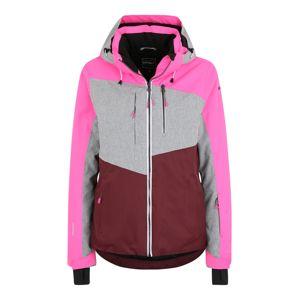 ICEPEAK Outdoorová bunda 'Calion'  sivá / ružová / vínovo červená