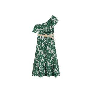 MANGO Plážové šaty  zelená