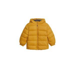 MANGO KIDS Zimná bunda  horčicová