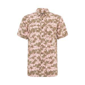 CRAGHOPPERS Funkčná košeľa 'CARLOS'  tmavozelená / ružová
