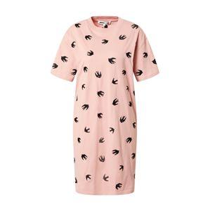 McQ Alexander McQueen Šaty 'Slouchy'  ružová / čierna