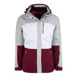 KILLTEC Outdoorová bunda 'Sewia'  svetlosivá / bordová / biela