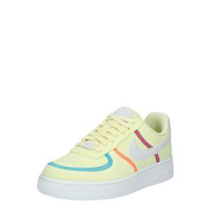 Nike Sportswear Nízke tenisky 'Air Force 1 '07 LX'  zelená / svetlosivá / nebesky modrá / žltá