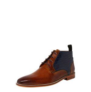 MELVIN & HAMILTON Šnurovacie topánky 'Alex 11'  námornícka modrá / hnedé