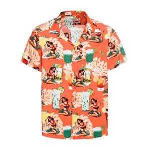 INDICODE JEANS Košeľa 'Gathorne'  zmiešané farby / oranžová