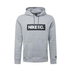 NIKE Športová mikina 'F.C.'  biela / sivá / čierna