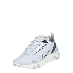 NIKE Športová obuv 'REACT ELEMENT 55'  platinová / čierna / biela