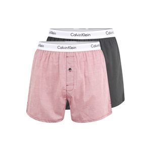 Calvin Klein Underwear Boxerky  pastelovo červená / antracitová