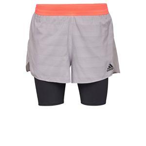 ADIDAS PERFORMANCE Športové nohavice  sivá / čierna / marhuľová