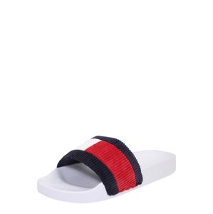 Tommy Jeans Papuče 'Corduroy'  tmavomodrá / červená / biela