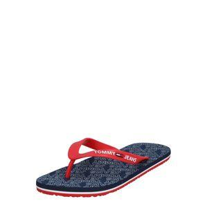 Tommy Jeans Žabky 'REPEAT PRINT BEACH SANDAL'  červené / námornícka modrá