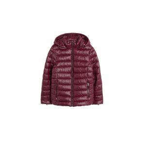 VIOLETA by Mango Zimný kabát 'Rise'  vínovo červená