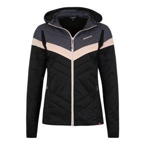 ZIENER Outdoorová bunda 'NAFALDA lady'  tmavosivá / ružová / čierna