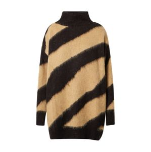 SOAKED IN LUXURY Oversize sveter 'Feline'  béžová / čierna