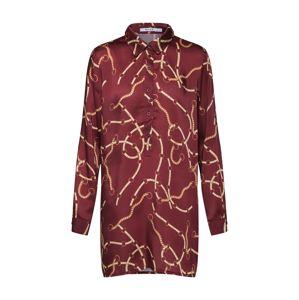 NA-KD Blúzka 'chain print tunic'  červené